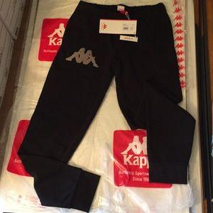 Kappa sweatpants NWT black XS